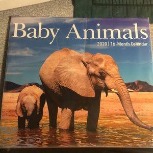 Baby animals 2020 16- month calendar